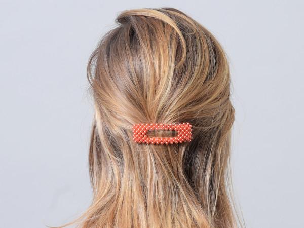 Haarspange Rabea coral