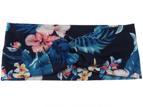 Haarband Flora dunkelblau