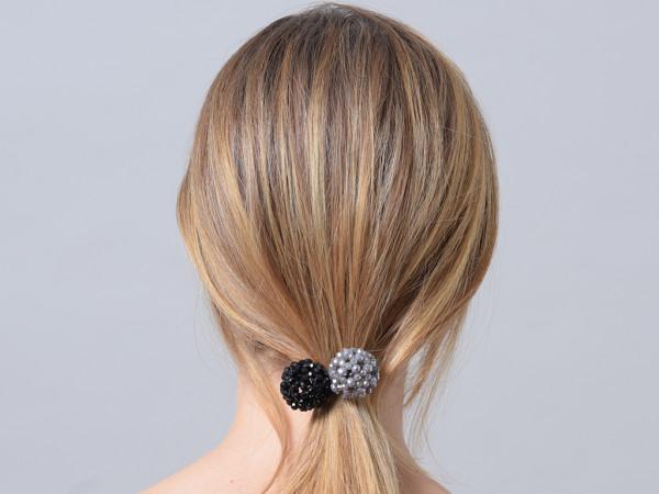 Haargummi Claire schwarz-grau