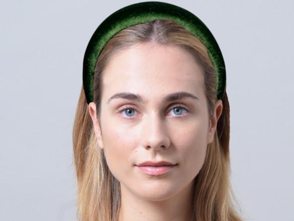 Haarreif Cleo smaragdgrün