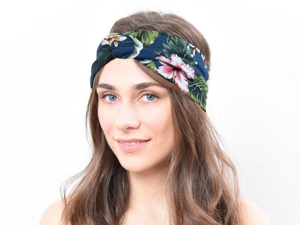 Haarband Flora petrolblau