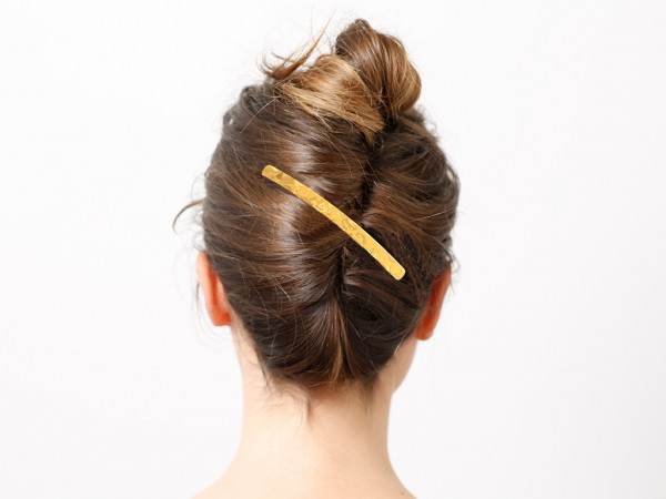 Haarspange Inès gelb