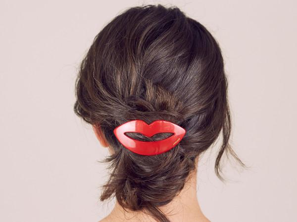 Haarspange Kiss rot