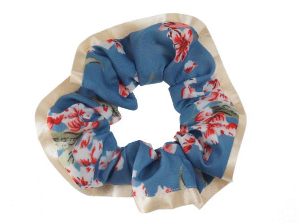 Scrunchie Sakura bleu