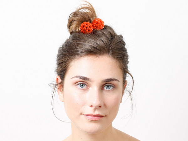 Haargummi Claire orange