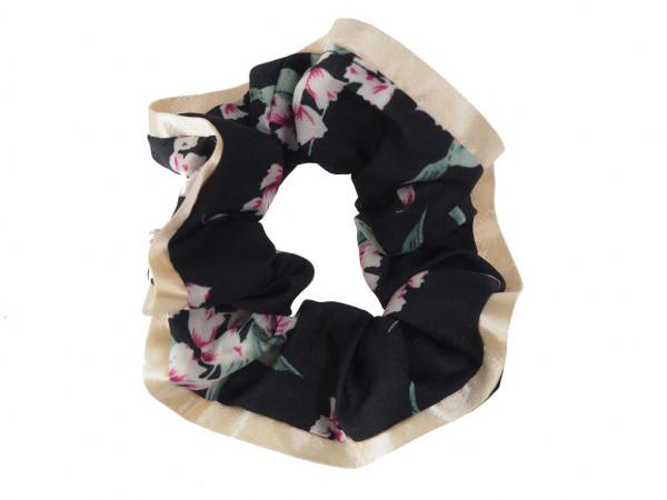 Scrunchie Sakura noir