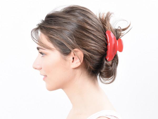Haarklammer Frida rot