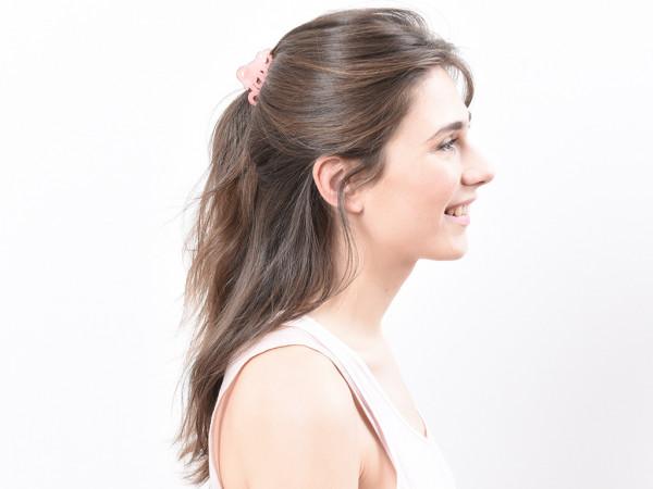 Haarklammer Love rosé klein