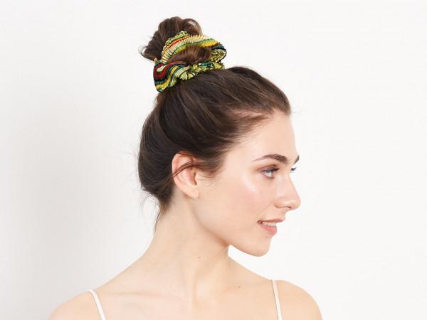 Scrunchie Amalia grün-gelb