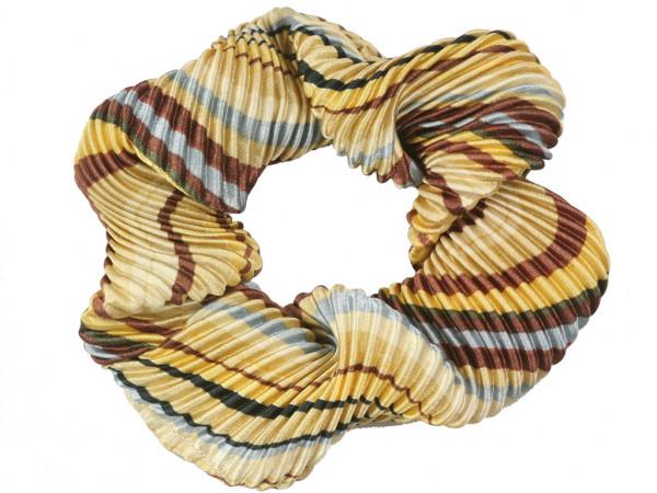 Scrunchie Amalia beige-braun