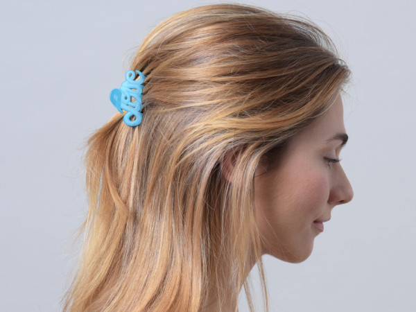 Haarklammer Love hellblau klein