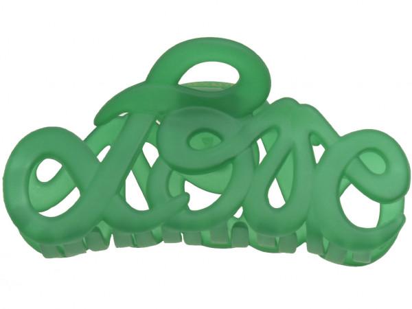 Haarklammer Love emerald groß