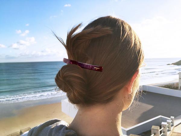 Haarspange Inès bordeaux