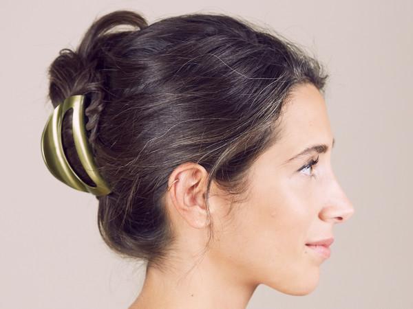 Haarklammer Emmi khaki groß