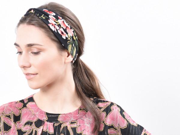 Haarband Flora schwarz