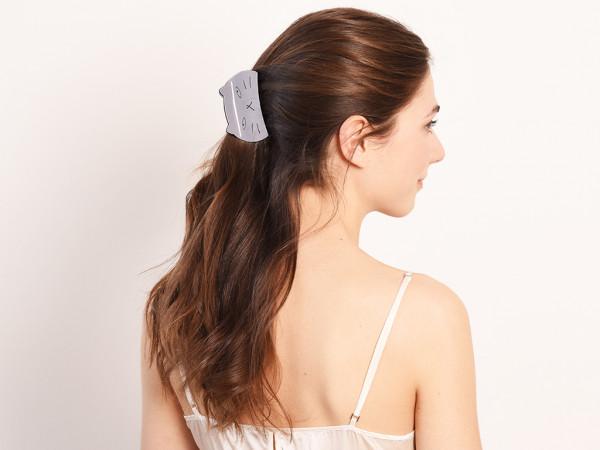 Haarklammer Mina grau