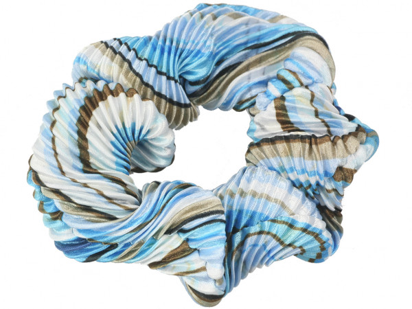 Scrunchie Amalia blau-weiß