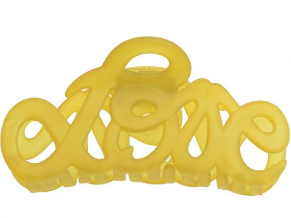 Haarklammer Love gelb groß