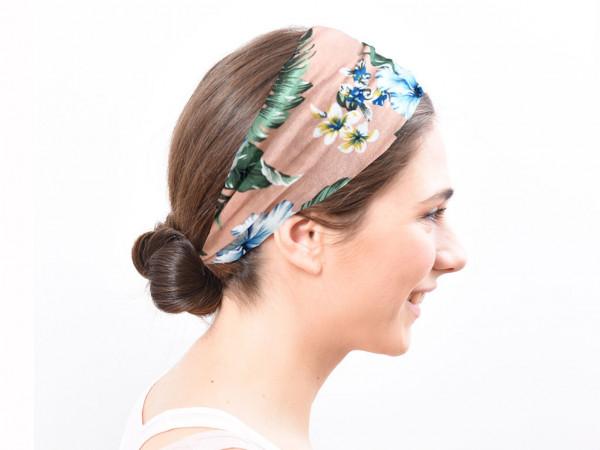Haarband Flora rosa