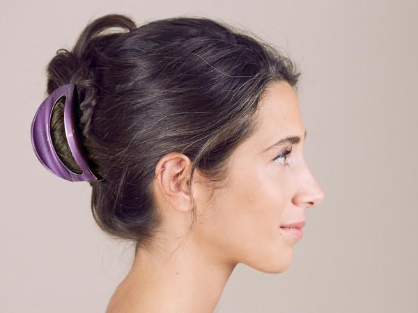 Haarklammer Emmi violett groß