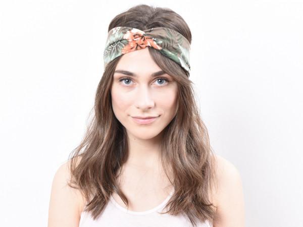 Haarband Flora braun