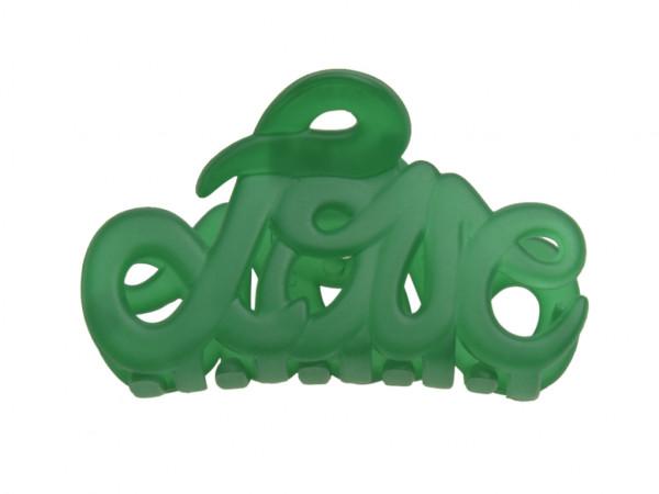 Haarklammer Love emerald klein